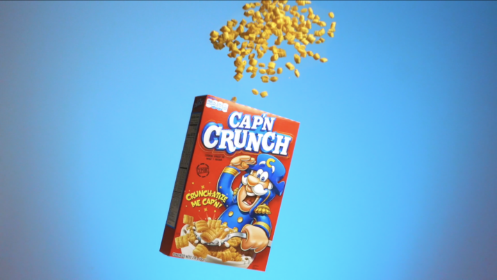 Commercial video Capitan Crunch